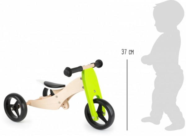 Laufrad -Kinderlaufrad - Tricycle Trike 2-in-1 loopfiets 10 Zoll Junior Grün