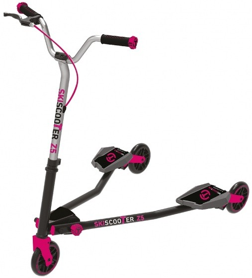 Scooter - Tretroller - Skiscooter Z5 Junior Schwarz/Rosa