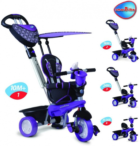 Dreirad - Buggy - Dream 4-in-1 Junior Violett/Schwarz