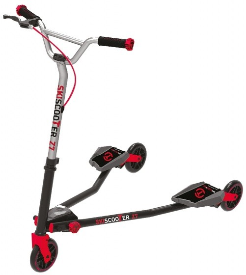 Scooter - Tretroller - Skiscooter Z7 Junior Schwarz/Rot